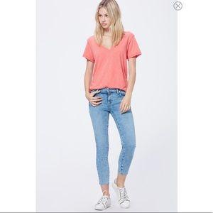 Paige Verdugo Raw Hem Crop Skinny Jeans in ALOHA